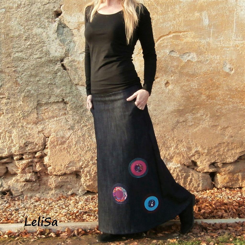 7c9a1ec7f8e Dlouhá riflová sukně 041