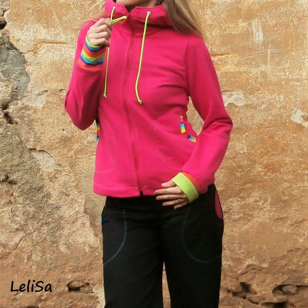 Růžová bavlněná mikina s kapucí 00058  fb2eeae5bd