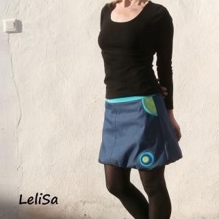 Riflová balónová sukně s aplikacemi 0427 empty 051a2694fa